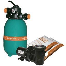 Filtro para Piscina DFR-12 + Bomba PF-17 1/3CV Mono + 2 Sacos de Areia