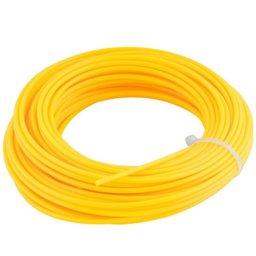 Fio de Nylon Amarelo Redondo 1,8 mm x 15 Metros para Roçadeiras