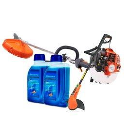 Kit Roçadeira a Gasolina 25,4CC 1,07HP Husqvarna-226RJ + Aparador de Grama 110V + Lubrificante para Motores 2T