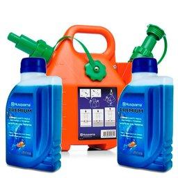 Kit Bidão Combinado 6 Litros para Roçadeiras Husqvarna-505698000 + Lubrificante Premium 500ml para Motores