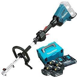 Kit Roçadeira Multifuncional com 4 Baterias 5Ah, Carregador 220V e Maleta