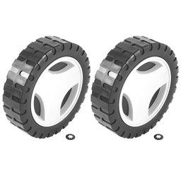 Roda Maior e Calota Plástica para Cortador de Grama CE35P