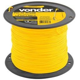 Fio de Nylon Amarelo Redondo 1,6 mm x 500 Metros para Aparador de Grama