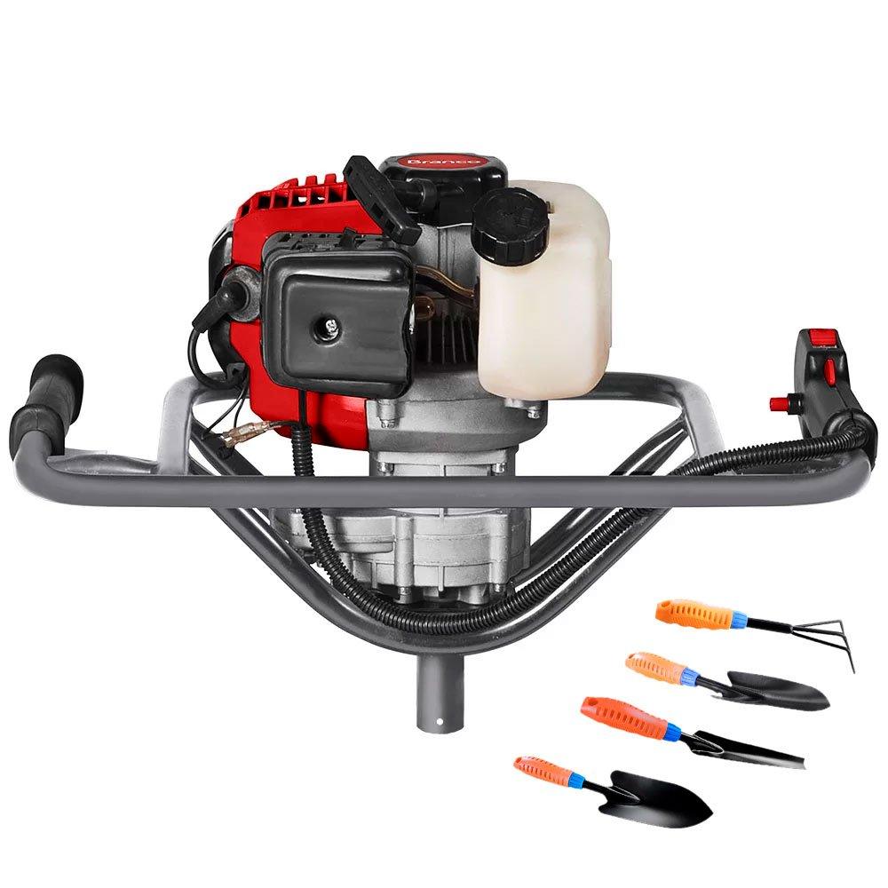 Kit Perfurador de Solo à Gasolina BRANCO-90314500 52CC + Conjunto Jardinagem com 4 Peças