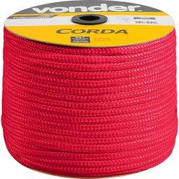 Corda Multifilamento Trançada 12 mm  x 140 m Vermelha em Carretel