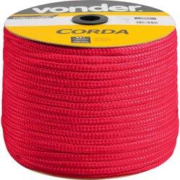 Corda Multifilamento Trançada 8 mm  x 258 m Vermelha em Carretel