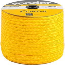 Corda Multifilamento Trançada 8 mm  x 258 m Amarela em Carretel