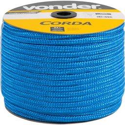 Corda multifilamento trançada 12 mm x 140 m, azul, em carretel