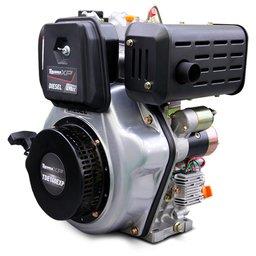 Motor a Diesel Refrigerado a Ar 4T 13.5HP 498CC Partida Elétrica e Manual com Kit Chave de Partida