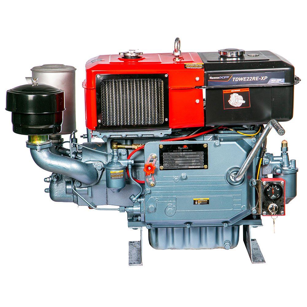 Motor a Diesel Refrigerado a Água 1194CC 22HP com Radiador e Partida Elétrica