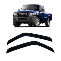 Calha de Chuva 2 Portas Ford Ranger 96 até 2012 Cabine Simples e Estendida