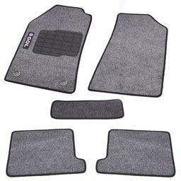 Jogo de Tapetes Carpete Gol G5 09/14 Preto com 5 Peças