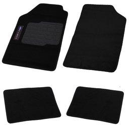 Jogo de Tapetes Carpete Ford Universal Preto com 4 Peças