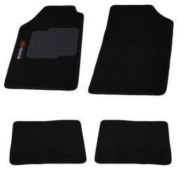 Jogo de Tapetes Carpete Toyota Universal Preto com 4 Peças