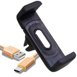 Suporte de Smartphone para Saída de Ar com Cabo USB-C