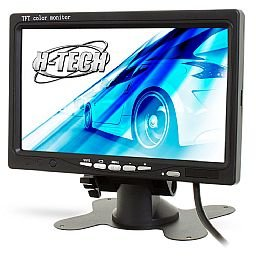 Monitor de Led 7 Pol. Preto para DVD Automotivo