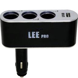 Plugue Automotivo com 3 saídas e USB/12V