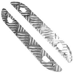 Soleira para Porta Traseira  Xadrez em Alumínio