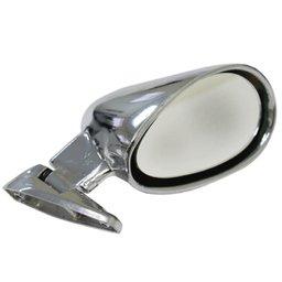 Espelho Retrovisor Externo Universal Fórmula Indy Cromado Prata - Lado Direito