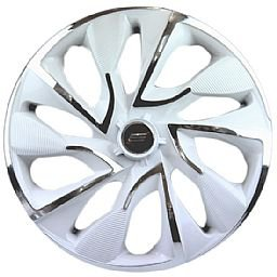 Calota DS4 Aro 14 White Chrome Cubo 4 x 100/ 4 x 108 - 01 Unidade