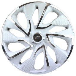 Calota DS4 Aro 14 White Chrome Cubo 4 x 100/ 4 x 108 - 01 Unidade