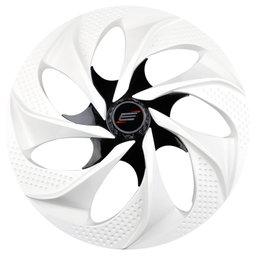 Calota Esportiva Aro 14 Evolution Cubo Alto 4 x 100/ 4 x 108 - White / Black - 01 Unidade