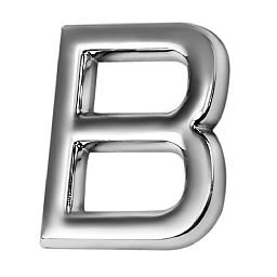 Letra B 39 mm Cromada