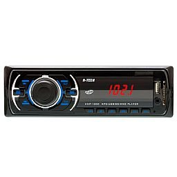 Som Automotivo MP3 Display LED com Botão Preto e Leitor USB, SD Card e Auxiliar