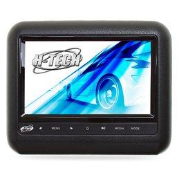 Encosto de Cabeça Acoplável com Monitor 9 Pol. e Leitor DVD/USB/MP3/MP4/MP5 Preto