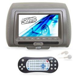 Encosto de Cabeça com Monitor LED e Leitor DVD/USB/MP3/MP4 7 Pol. Cinza