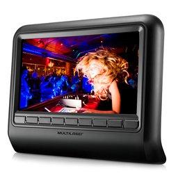 DVD Player Automotivo 9 Pol. para Encosto de Cabeça Preto