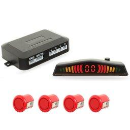 Sensor de Estacionamento 4 Pontos Vermelho com Display LED Colorido