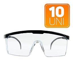 Kit 10 Óculos de Proteção Incolor Antirrisco