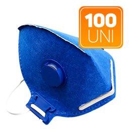 Kit 100 Máscaras Respiradoras Semifaciais PFF2 Valvuladas
