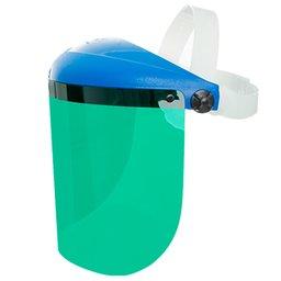 Protetor Facial Pro Vision CS com Visor Verde 8 Pol. e Carneira Simples