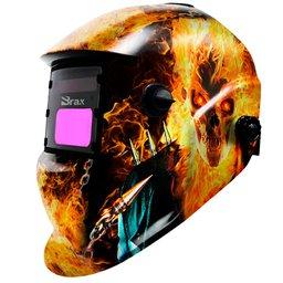 Máscara de Solda Automática Motoqueiro Fantasma com Regulagem 9 a 13
