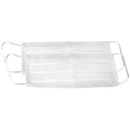 Kit 2 Máscaras Respirável Dupla 100% Algodão Branca Lavável
