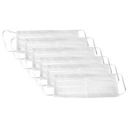 Kit 6 Máscaras Respirável Dupla 100% Algodão Branca Lavável