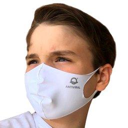 Máscara de Tecido Antiviral Branco Infantil