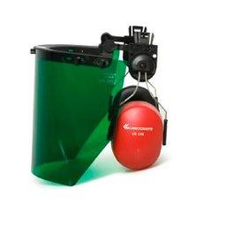 Protetor Facial Verde com Abafador de Ruídos CG108