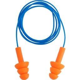 Protetor Auditivo Tipo Plug De Silicone Com Cordão Em Pvc