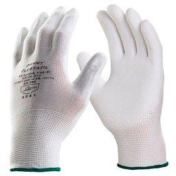 Luva de Segurança Flextáctil Branca em Nylon Tamanho XG