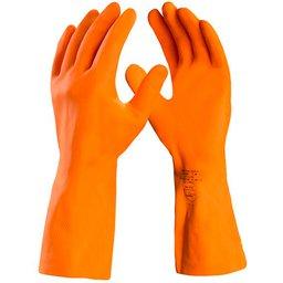 Luva de Segurança Max Orange com Látex Reforçada Tamanho P