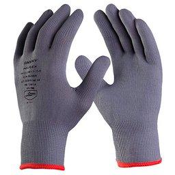 Luva de Segurança Poliflex Cinza Tricotada em Nylon Tamanho G