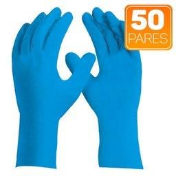 Luva de Segurança Sensiflex Flex Azul Tamanho XG com 50 Pares