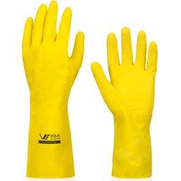 Luva Multiuso Látex Standard Amarelo com Forro - Média