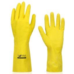Luva Multiuso Látex Standard Amarelo com Forro - Grande