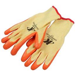Luva de Segurança Tricotada com Látex Tamanho P - Orange Flex