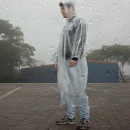 f21264e136c Capa de Chuva PVC Laminado Transparente com Capuz e Manga sem Forro - G -  VONDER-7012430200 - R 15.9