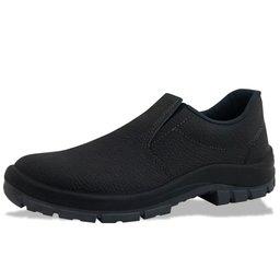 Sapato de Segurança Flex Elástico em Couro Preta - Número 38